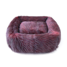 Exotic Ostrich Dog Bed by Hello Doggie - Burgundy