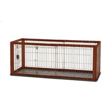 Expandable Dog Crate - Cherry Brown