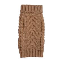 fabdog® Chunky Turtleneck Dog Sweater - Camel