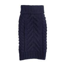 fabdog® Chunky Turtleneck Dog Sweater - Navy