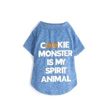 fabdog® Cookie Monster is My Spirit Animal Dog Shirt - Heather Blue