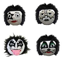 fabdog® Official KISS Faballs Squeaky Dog Toy - 4 Pack