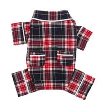 fabdog® Plaid Flannel Dog Pajamas - Blue