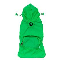 fabdog® Pocket Fold Up Dog Raincoat - Green
