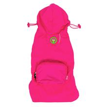 fabdog® Pocket Fold Up Dog Raincoat - Hot Pink