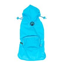 fabdog® Pocket Fold Up Dog Raincoat - Light Blue