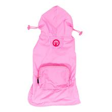 fabdog® Pocket Fold Up Dog Raincoat - Light Pink