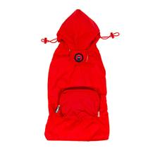 fabdog® Pocket Fold Up Dog Raincoat - Red