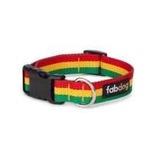 fabdog® Rasta Stripe Dog Collar