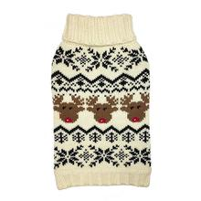 fabdog® Reindeer Fairisle Dog Sweater - Cream