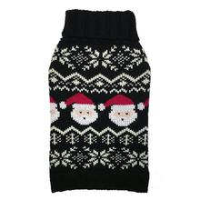 fabdog® Santa Fairisle Dog Sweater - Black