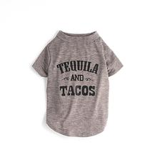 fabdog® Tequila and Tacos Dog Shirt - Grey