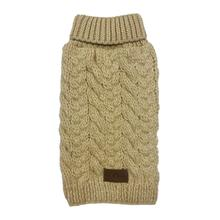 fabdog® Wool Turtleneck Dog Sweater - Beige