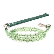 FabuLeash Beaded Dog Leash - Peridot Green