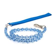 FabuLeash Beaded Dog Leash - Sapphire