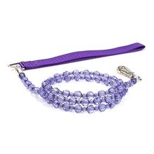 FabuLeash Beaded Dog Leash - Tanzanite Purple