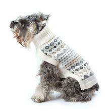 Frosty Fair Isle Alpaca Dog Sweater by Alqo Wasi