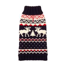 Navy Fairisle Turtleneck Dog Sweater by fabdog®