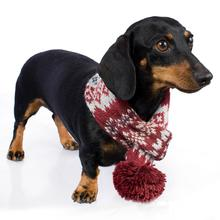 Fall Medley Alpaca Dog Scarf by Alqo Wasi - Burgundy
