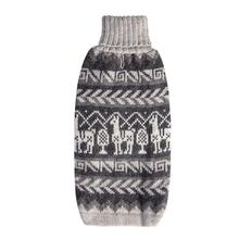 LLama Alpaca Dog Sweater by Alqo Wasi - Gray