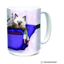 Fanny Pack Kittens Ceramic Mug by The Mountain