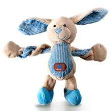 Charming Pet Farm Pulleez Dog Toy - Buster Blue Bunny