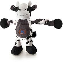 Charming Pet Farm Pulleez Dog Toy - Cow