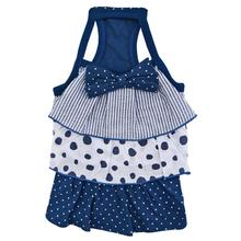 Farrah Frilled Dog Dress by Pinkaholic - Navy