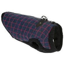 Fashion Bomber Check Dog Vest by Gooby - Navy