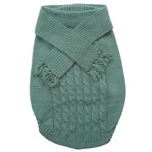 Fashion Pet Scarf Dog Sweater - Sage