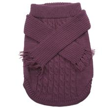 Fashion Pet Scarf Dog Sweater - Plum