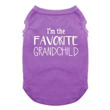 Favorite Grandchild Dog Shirt - Purple