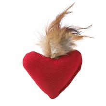 Feather Heart Cat Toy with Catnip by HUNTER