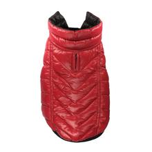 Featherlite Reversible-Reflective Puffer Dog Vest by Hip Doggie - Black/Red