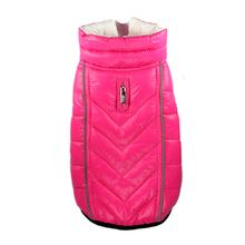 Featherlite Reversible-Reflective Puffer Vest by Hip Doggie - Pink/White