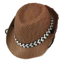 Fedora Dog Hat - Brown Straw