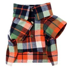 Harvest Flannel Dog Shirt by Dog Threads - Orange Plaid