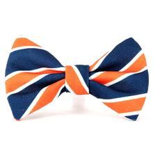 Fetching Fashions Spirit Bow Tie  Dog Collar Attachment - Orange and Blue