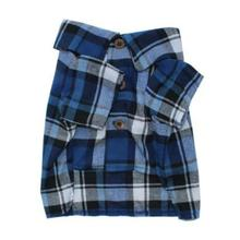 Frontiersman Flannel Dog Shirt by Dog Threads - Modern Blue