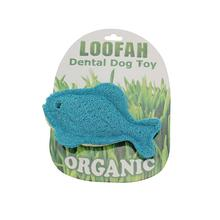 Fish Loofah Dental Dog Toy by Hip Doggie