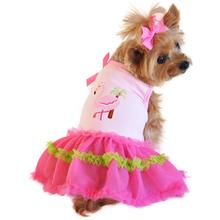 Flamingo and Palm Tank Designer Dog Dress by Doggie Design