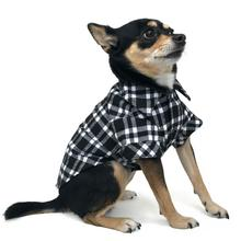Flannel Button Down Dog Shirt by Dogo - Black