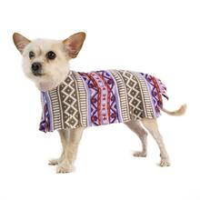 Fleece Dog Poncho by Poocho - Aztec Purple