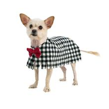Fleece Dog Poncho by Poocho - Houndstooth with Bow