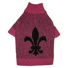 Fleur de Lys Dog Sweater by Ruffluv NYC - Pink