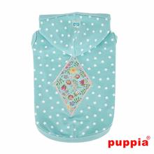 Flora Hooded Dog Shirt by Puppia - Aqua