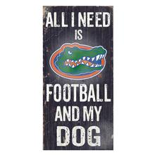 Florida Gators Football and My Dog Wood Sign