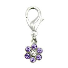 Flower D-Ring Pet Collar Charm by FouFou Dog - Lilac