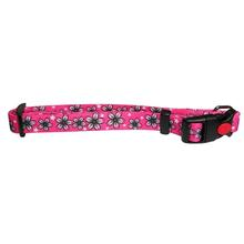 Flower Dog Collar by Cha-Cha Couture - Pink and Black