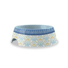 Flower Fields Small Pet Bowl by TarHong - Blue